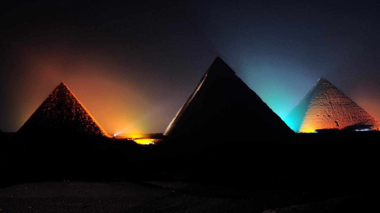 Show de lumini la piramide, cairo minisejur hurghada
