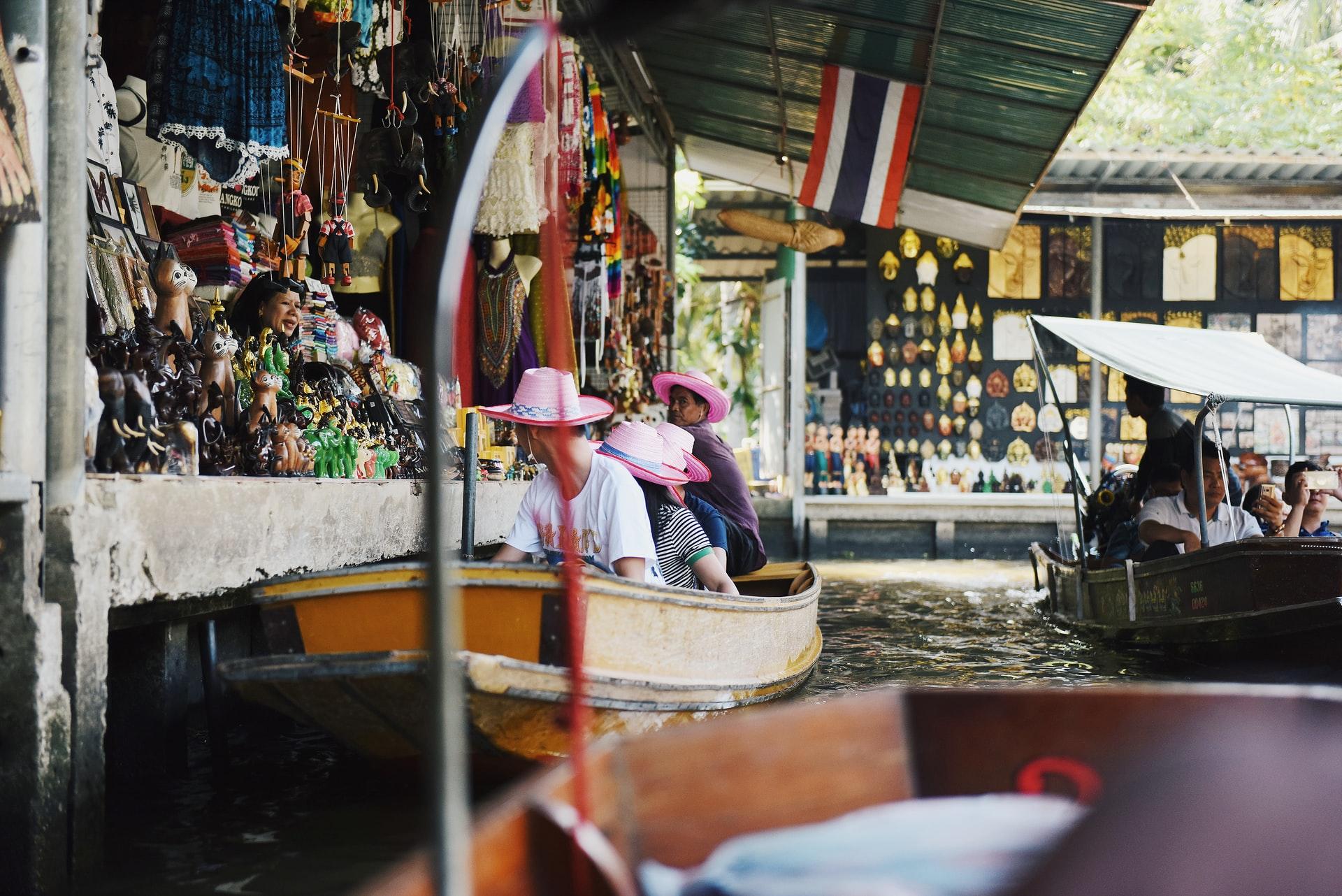 Damnoen saduak - piata plutitoare