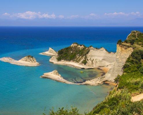 Corfu beach view