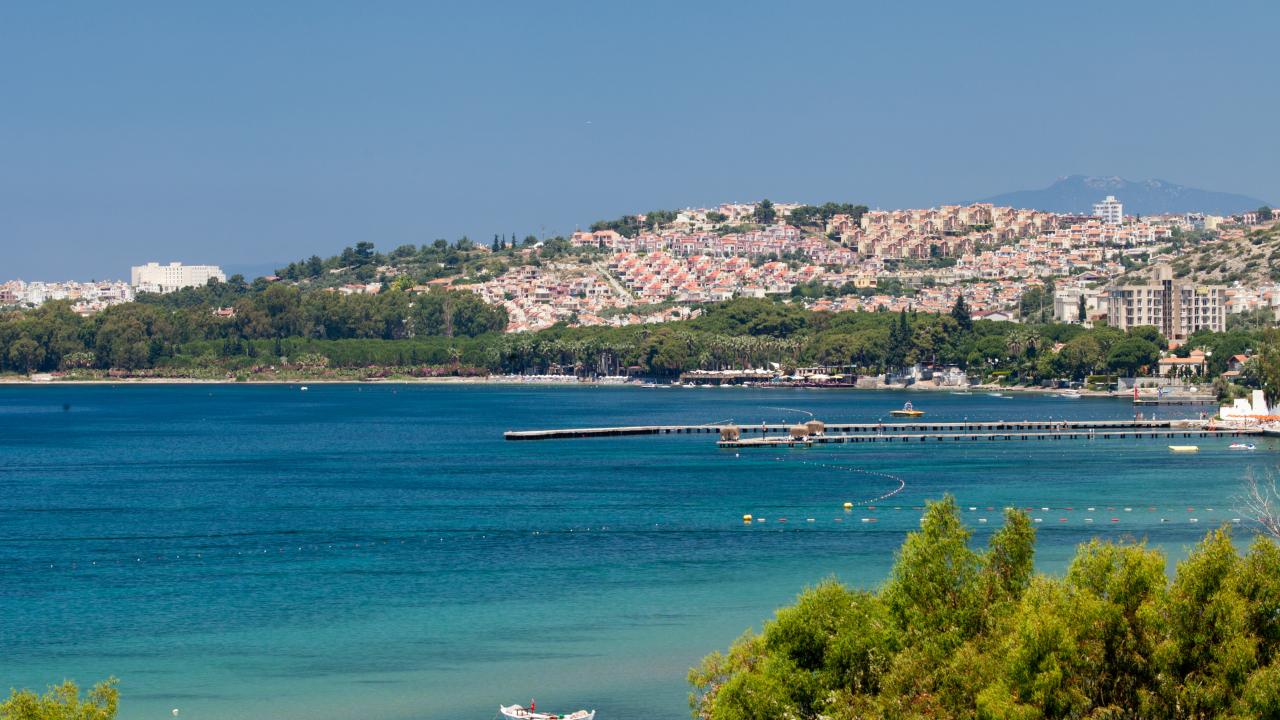 didim beach view turcia