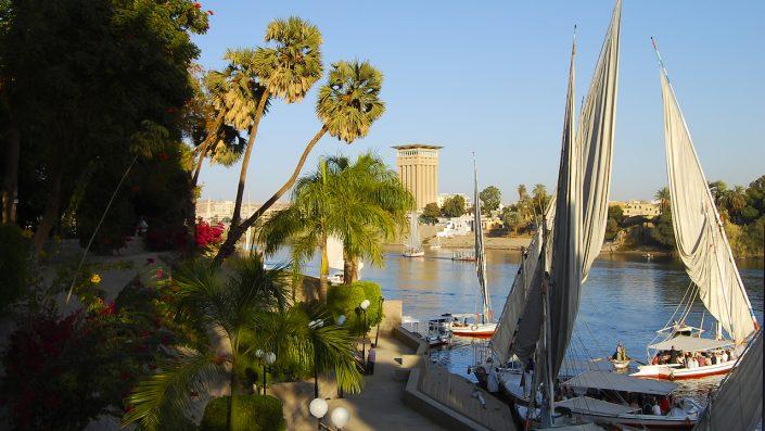 Aswan Botanical Garden Aswan Egipt, croazieră pe nil toamna