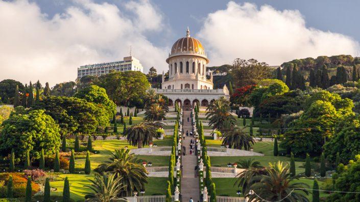 Bahai Gardens Haifa Israel. Divină floare