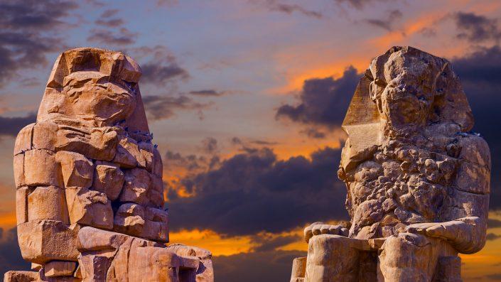 Colossi of Memnon Luxor Thebes Egipt, croazieră pe nil toamna