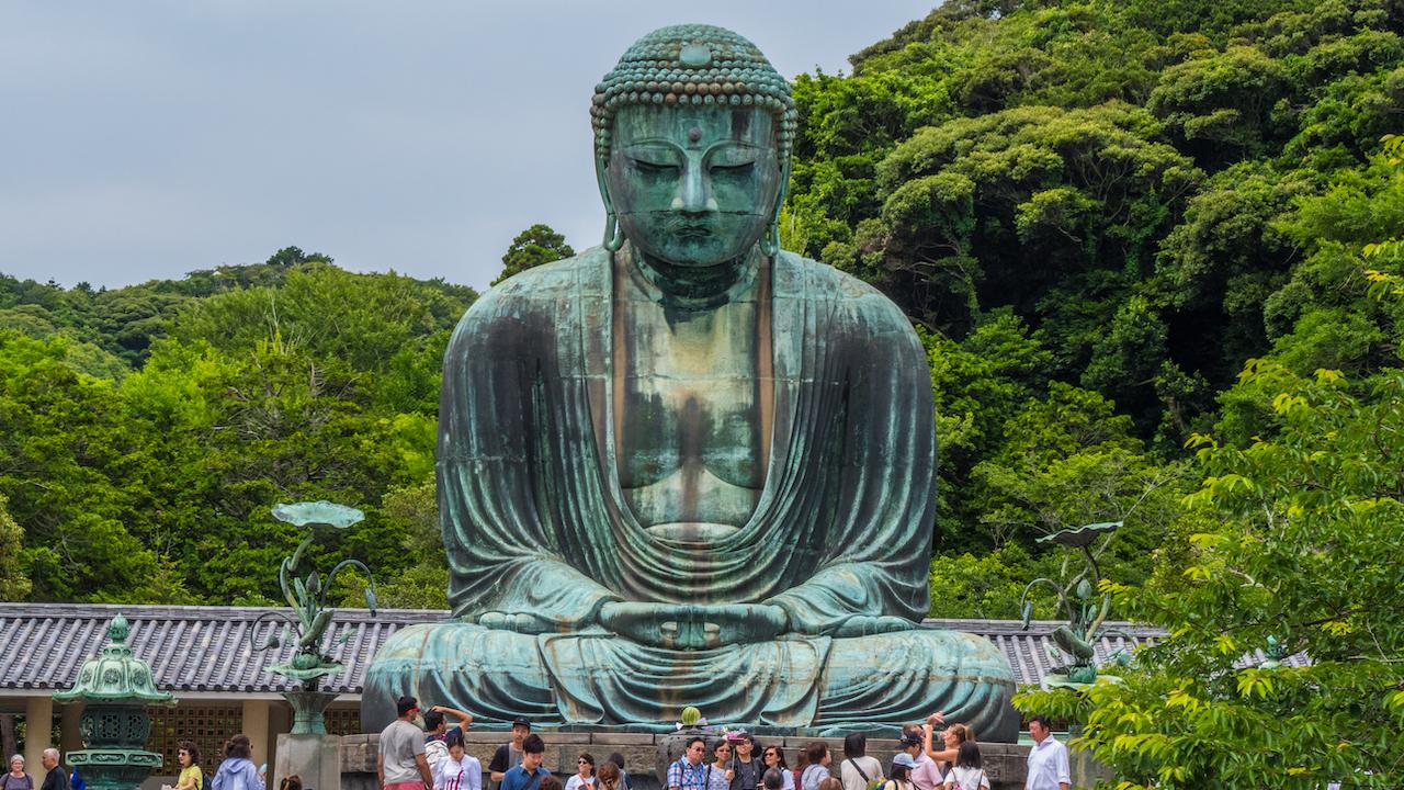 Famous Great Buddha in Kamakura Daibutsu Temple Japonia