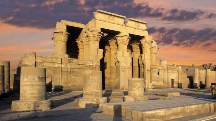 Kom Ombo temple Egipt, croazieră pe nil toamna
