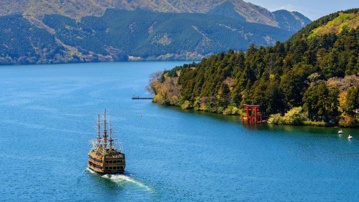 Lacul Ashinoko, Hakone, Japonia