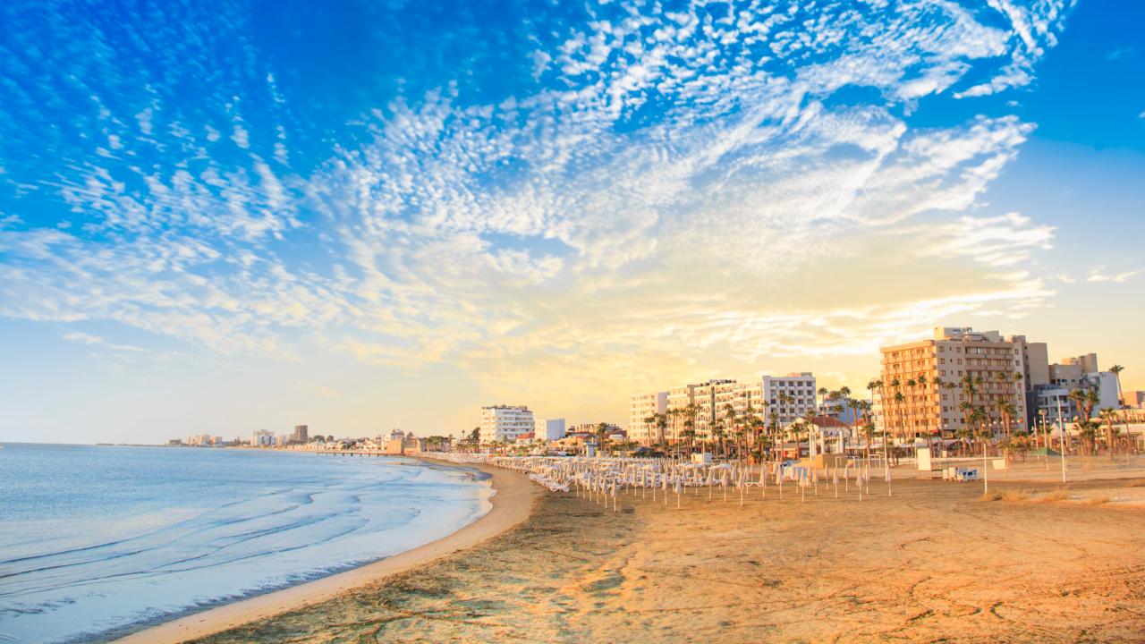 Larnaca plaja, Cipru
