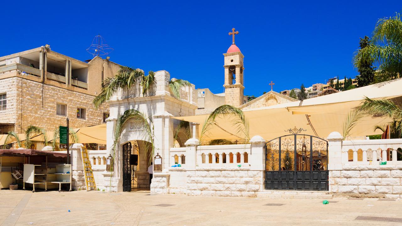 Ortodox Duminica Floriilor din Nazaret, Israel