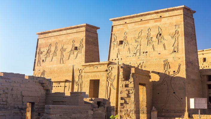 Philae temple Aswan Nil Egipt, croazieră pe nil toamna