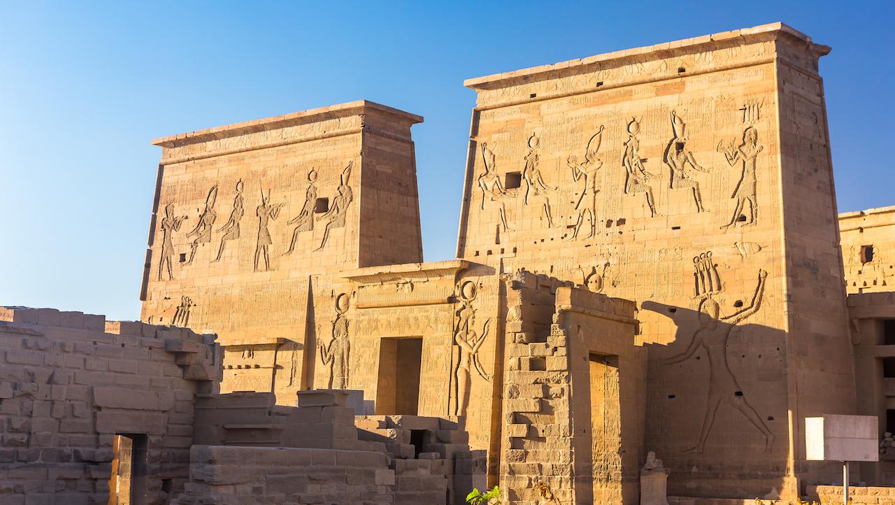 Philae temple Aswan Nil Egipt, croazieră pe Nil