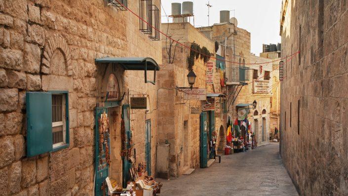 Strada veche din Betleem. Teritoriile palestiniene, Israel