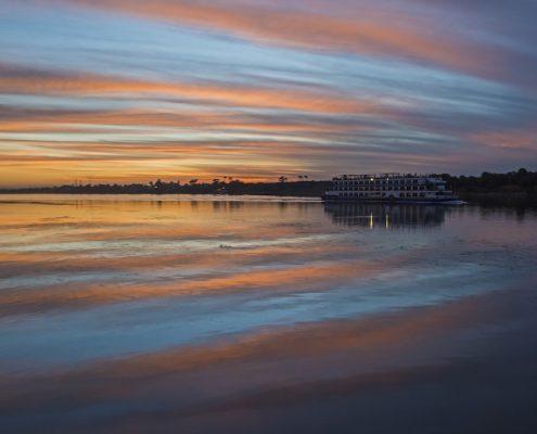 Sunset, Nile, Egipt, croazieră pe nil toamna