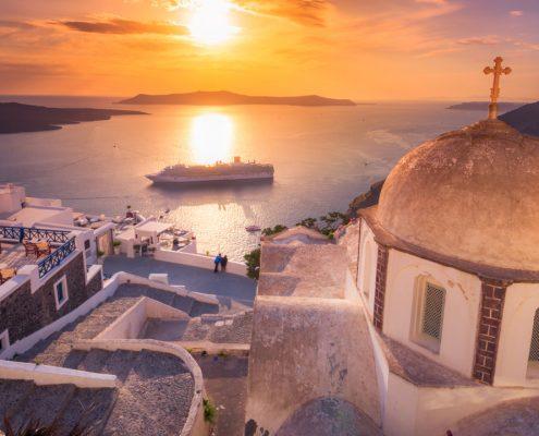 croaziera apus Santorini