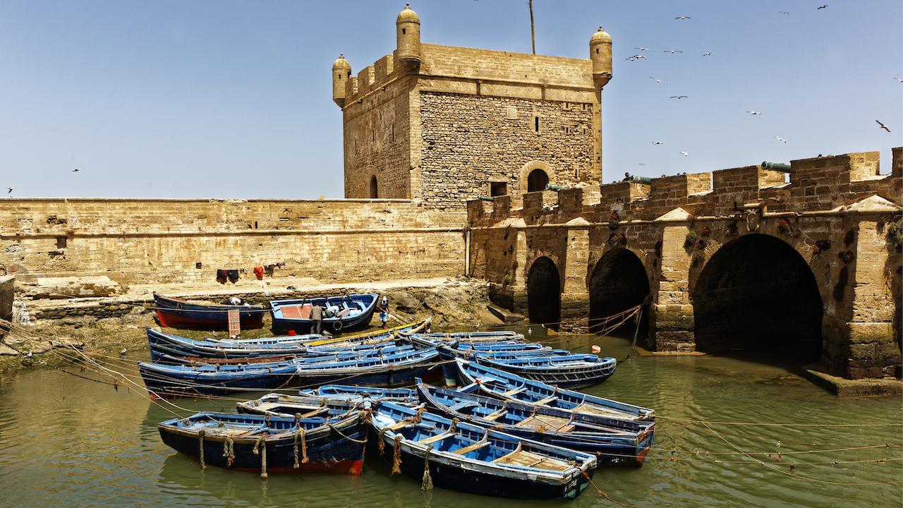 Cetatea și fortificațiile orașului Essaouira din coasta Atlanticului Maroc
