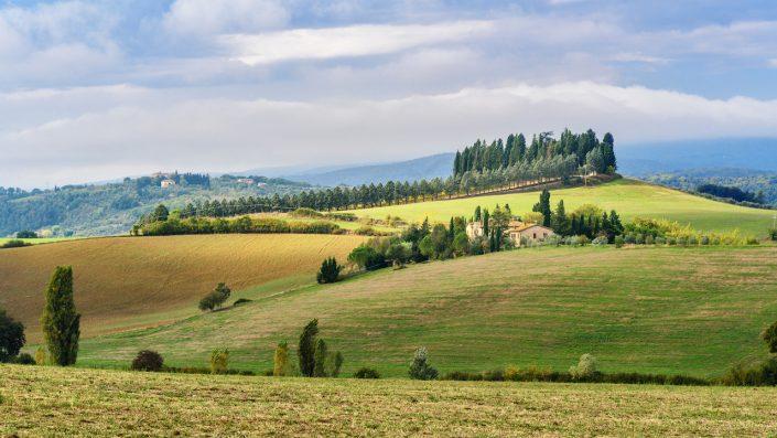 Landscape in Chianti in province of SienaToscana Italia