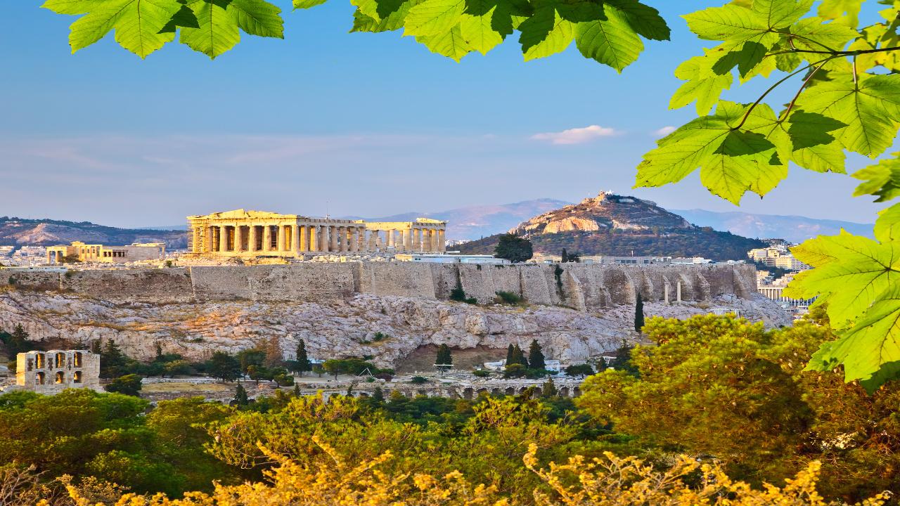 Atena perspectivă îndepărtată Piața de Crăciun