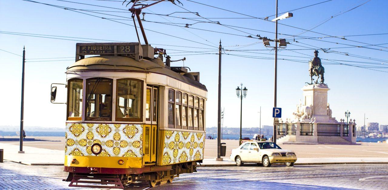 Tramvai Lisabona vara, Lisabona Piață de Crăciun 2020