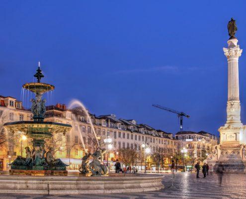Rossio Square Lisabona vara, Lisabona Revelion 2021