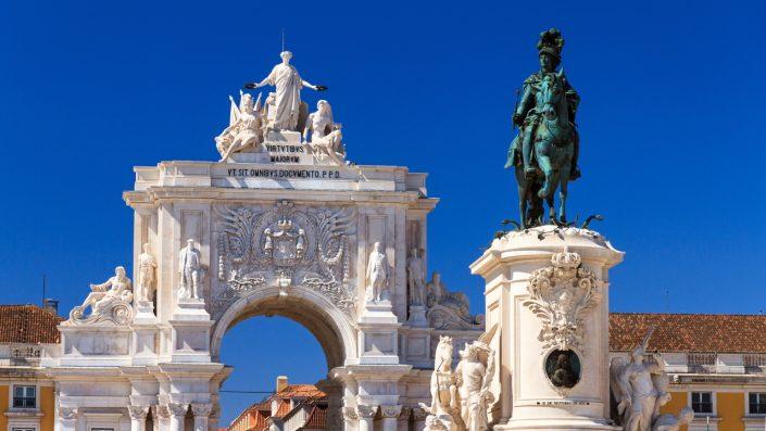 Statuia King Jose Lisabona, Sărbători de iarnă, Portugalia