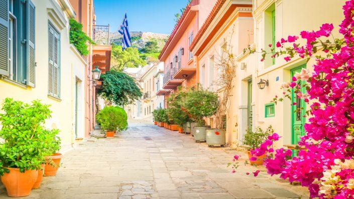 Străzi Grecia Piața de Crăciun