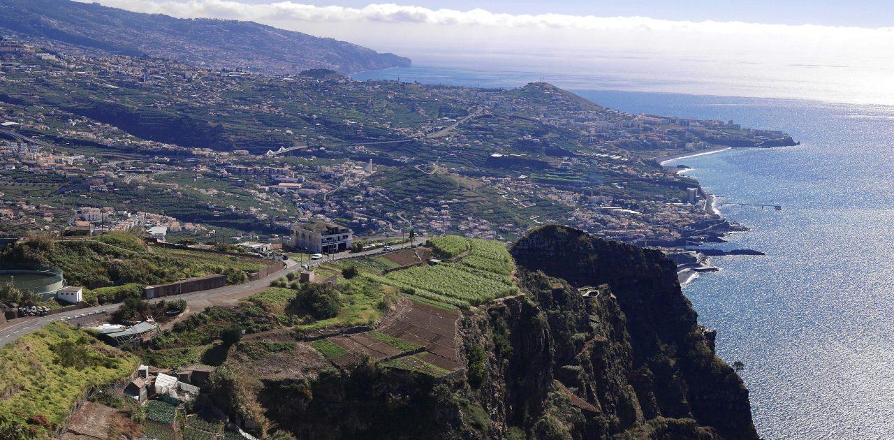 Funchal văzut din telecabină Madeira Festivalul Florilor