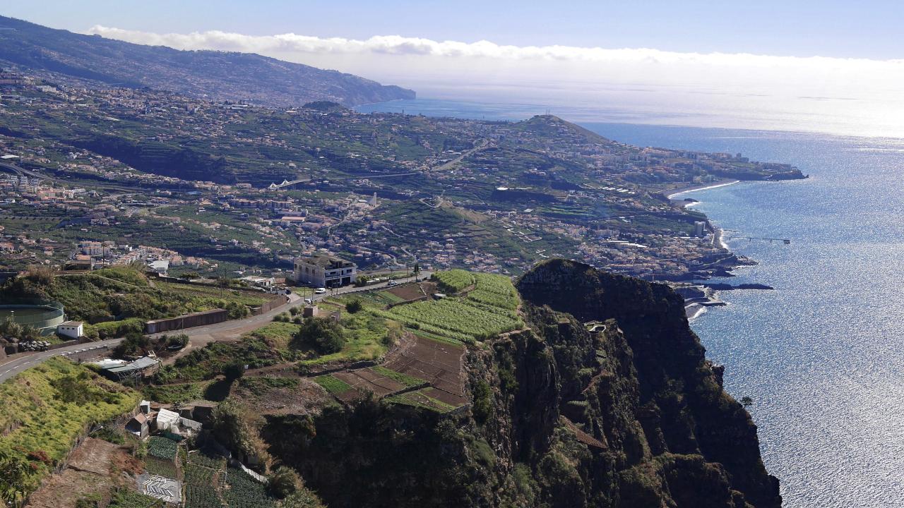 Funchal văzut din telecabină