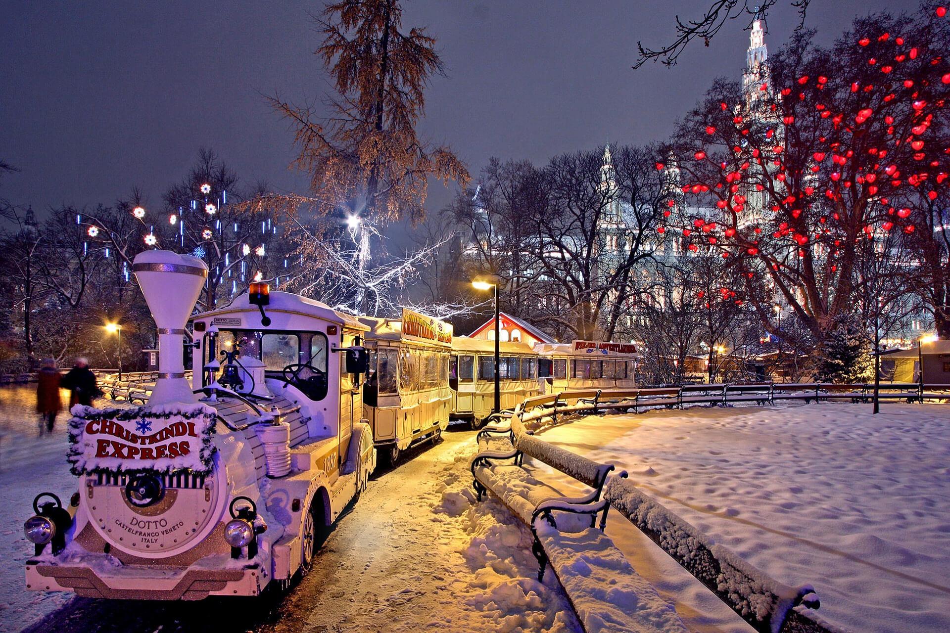 Viena Piața de Crăciun Revelion iarna