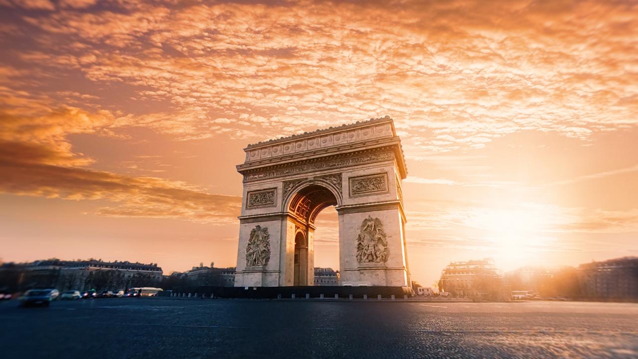 Arcul de Triumf Paris Paște 2020