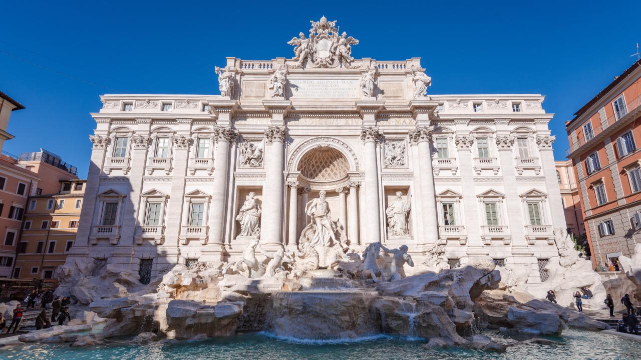 Fontana di Trevi Roma revelion Roma paste 2020