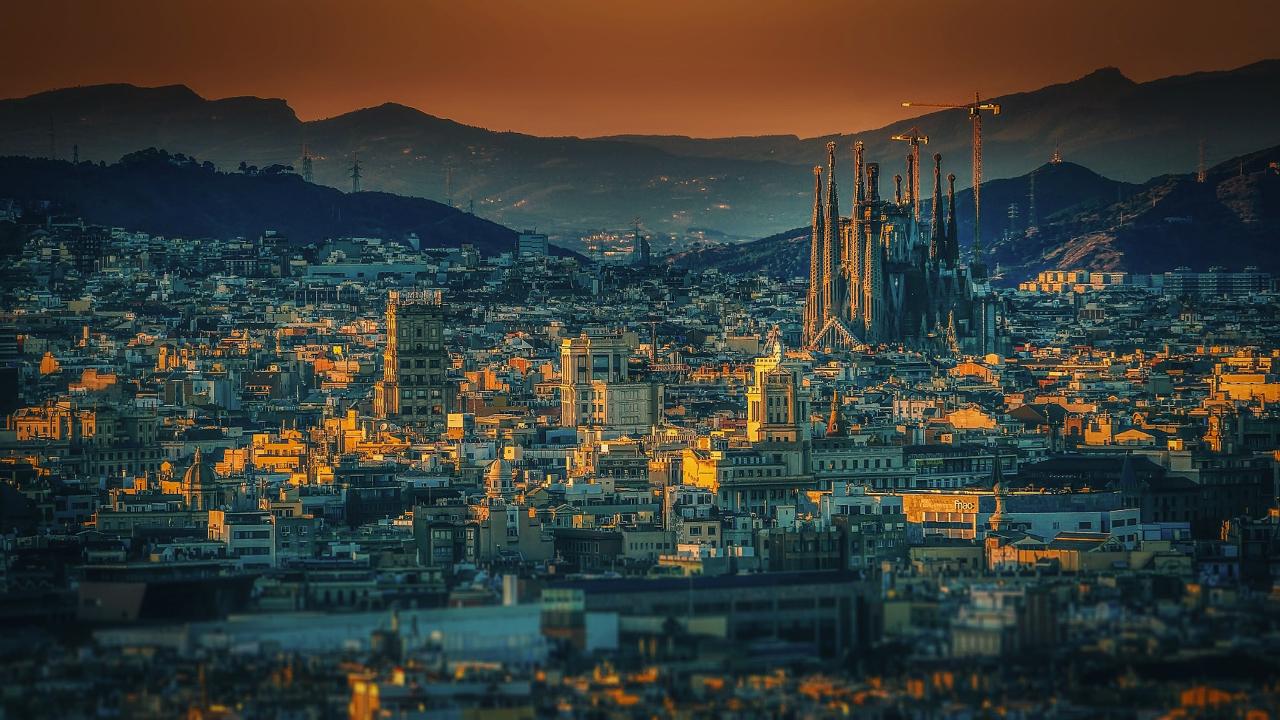 Barcelona Revelion 2020 panorama 1