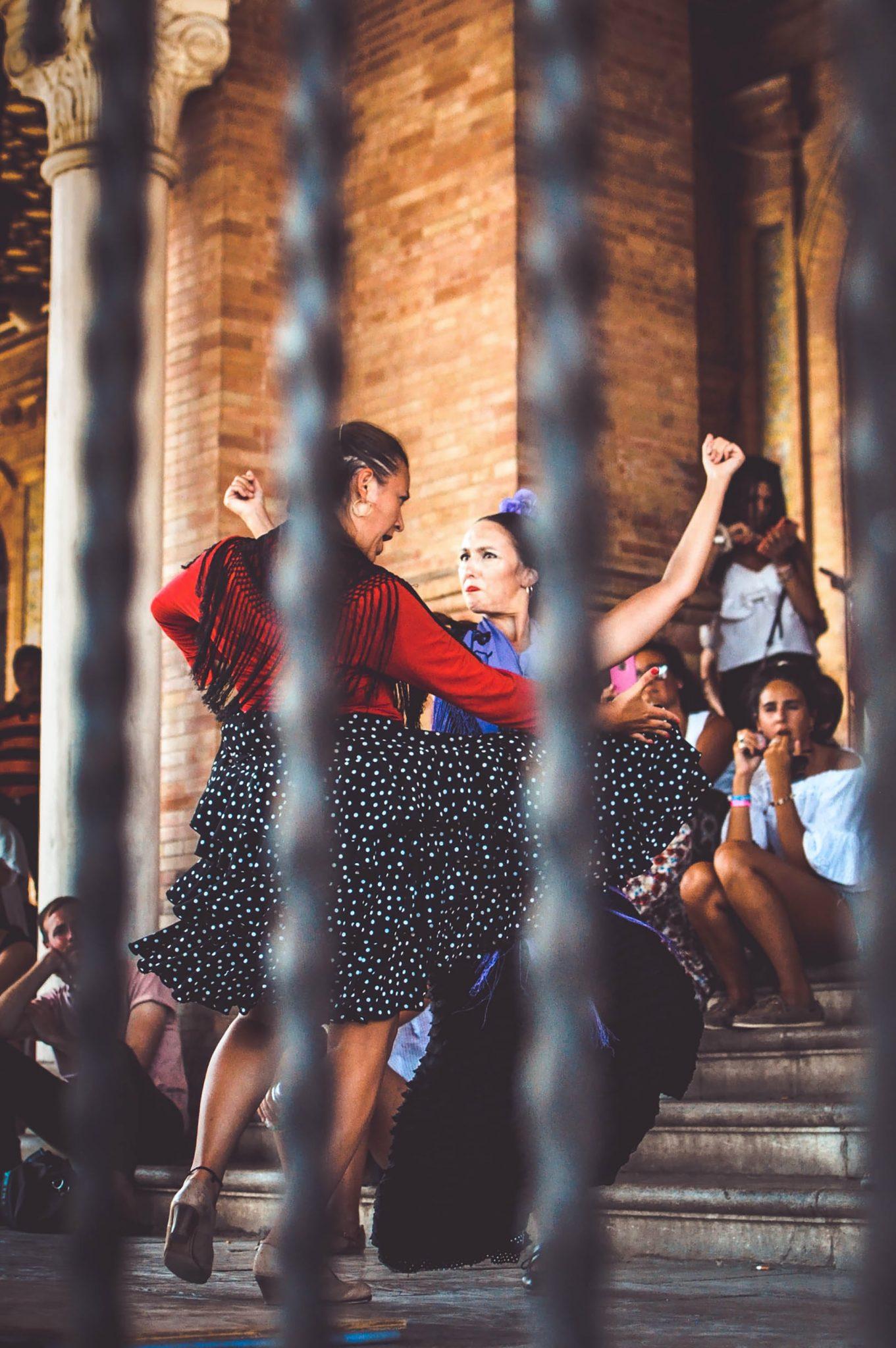 Dansatori in Sevilla, Spania