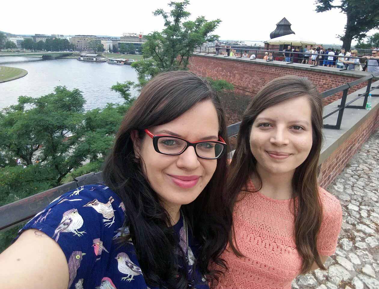 Z moją siostrą @Zamek na Wawelu