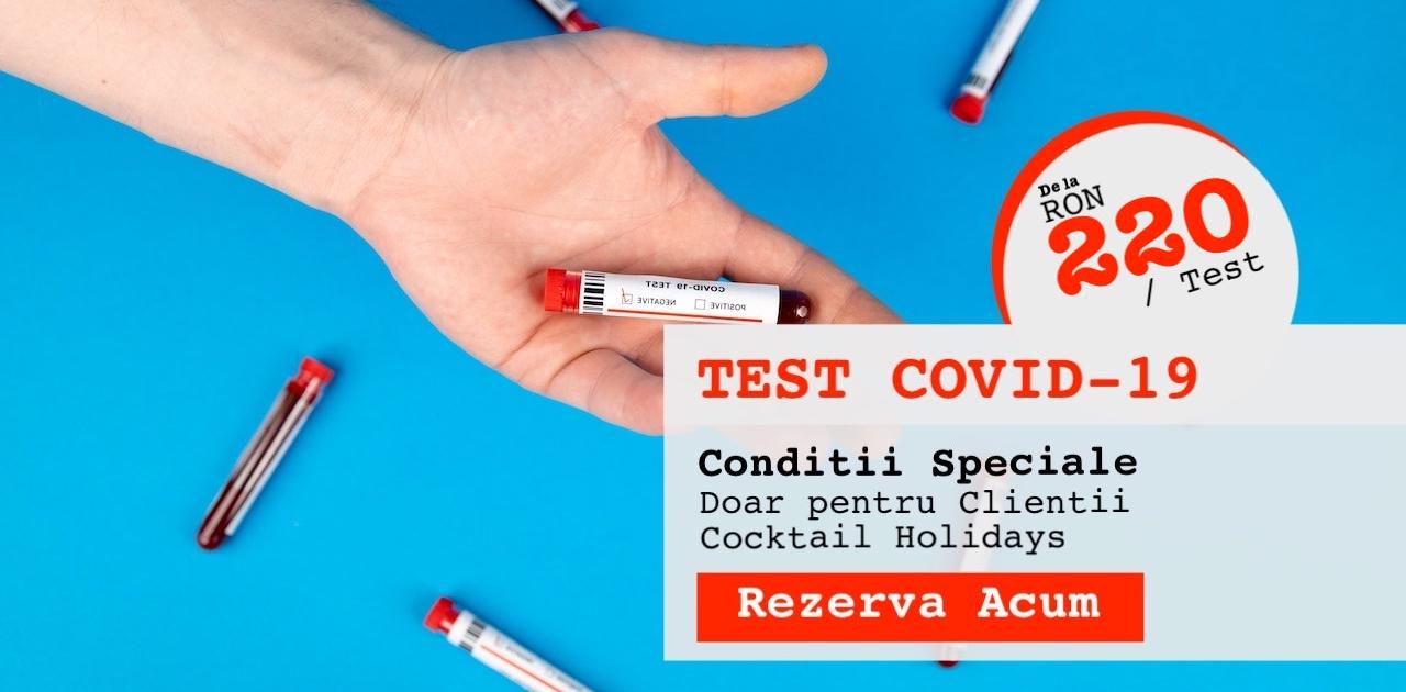 Test PCR, Test Covid-19 de calatorie, Cocktail Holidays